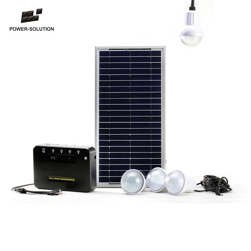 Solar Lightings With 4 Lamps Lighting