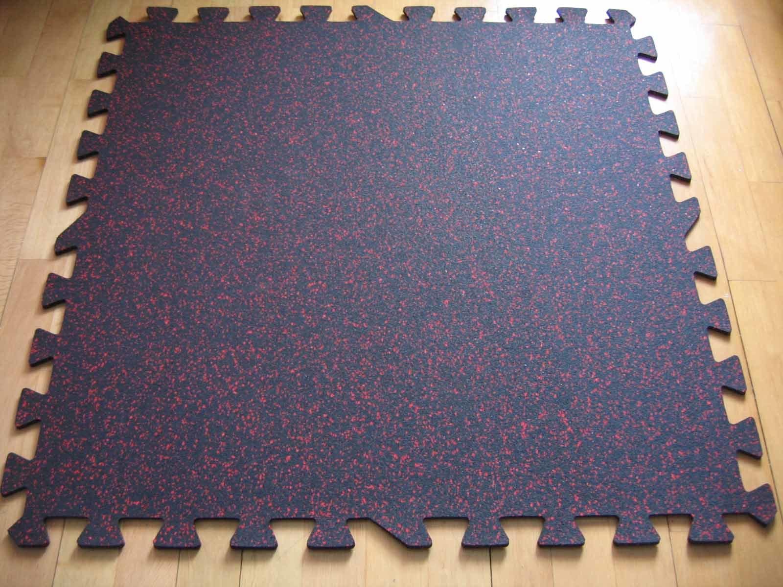 China Interlocking Rubber Gym Tile 1m X 1m Photos