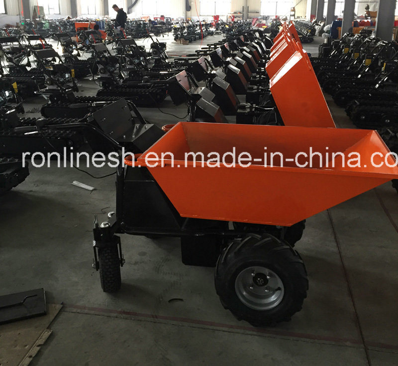 500kgs Track Electric Mini Dumper/Wheel Barrow/Muck Truck/Garden Transporter/Loader/Mini Transporter/Crawler Dumper CE