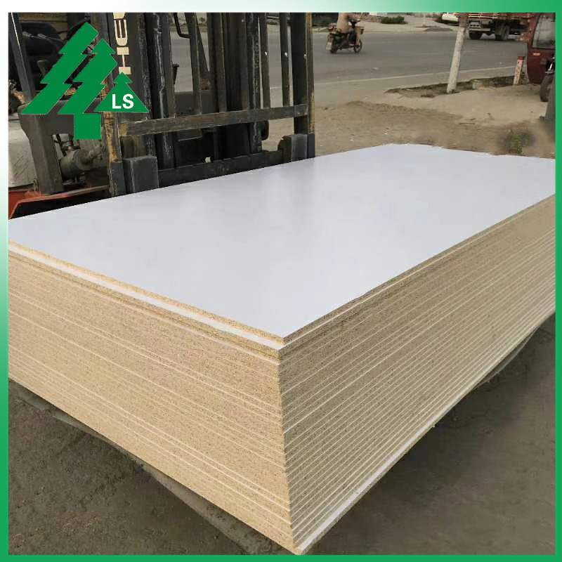 China 12mm 16mm 18mm White Melamine Particle Board Chipboard Two Sides China White Melamine Chipboard 5 8 Particle Board
