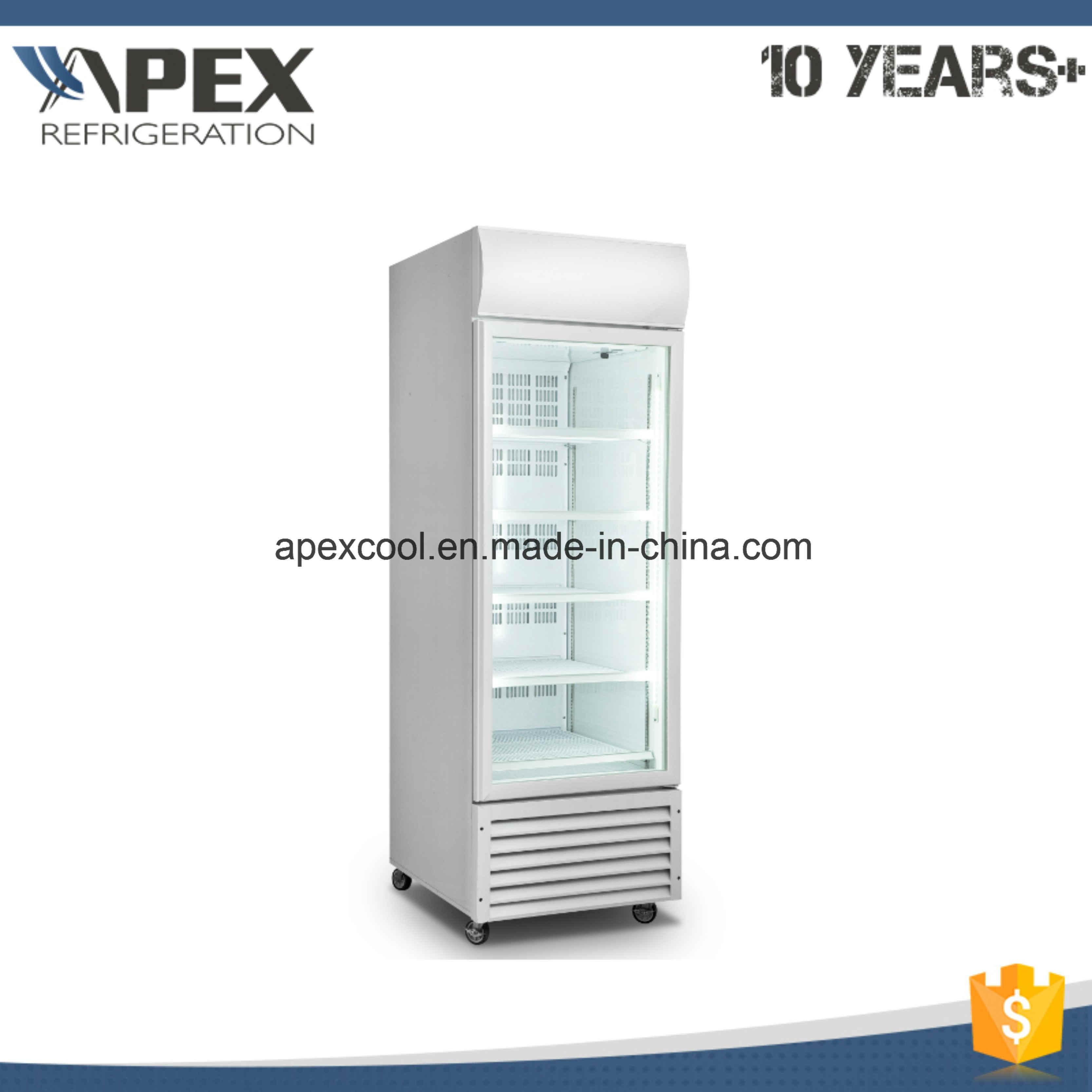 Vertical Single Glass Door Upright Display Freezer For Ice Cream