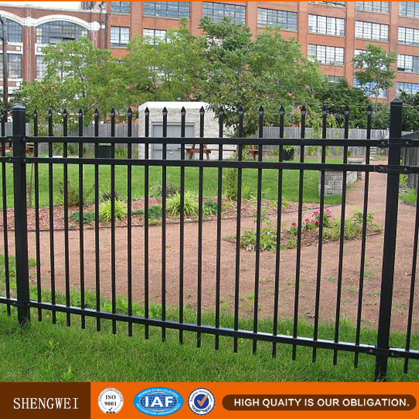 Powder Coated Spear Top Metal Fence Panels