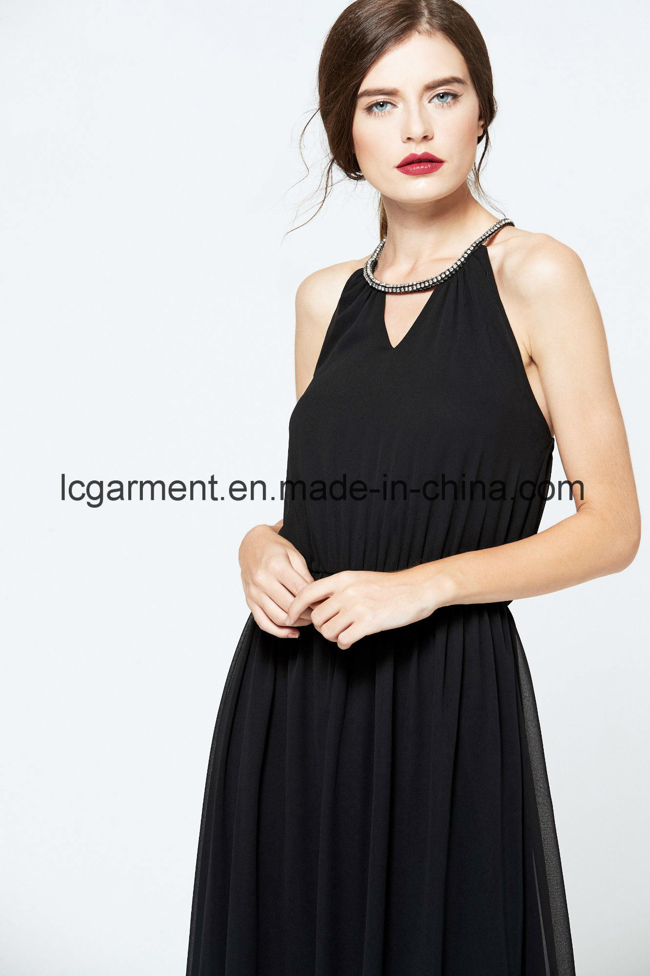 Simple Design New Lady Jumper Skirt Sexy Backless Summer Dress