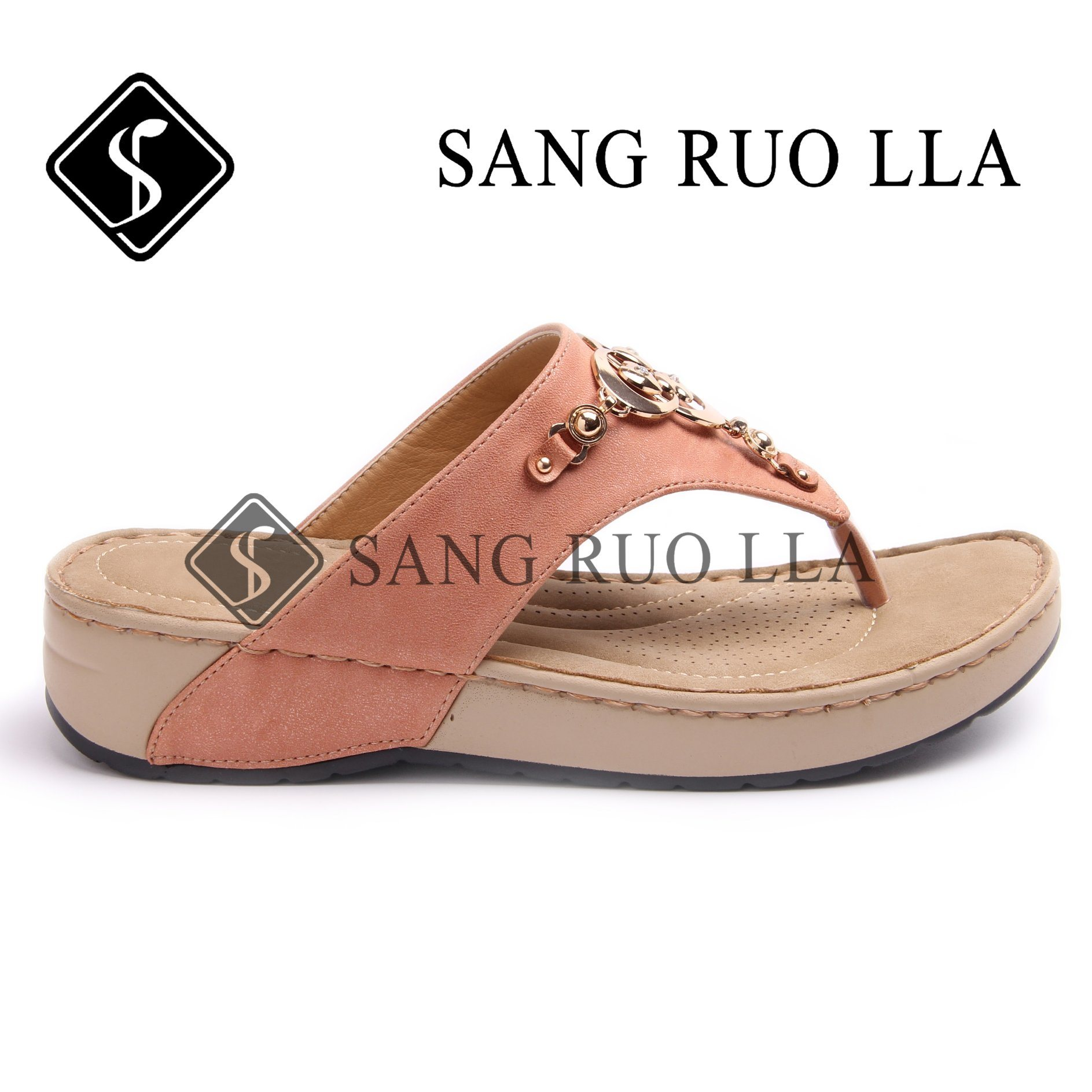 China 2019 New Design Ladies Fashion Flat Slippers Beach Sandal Casual Stylish Shoes Comfortable