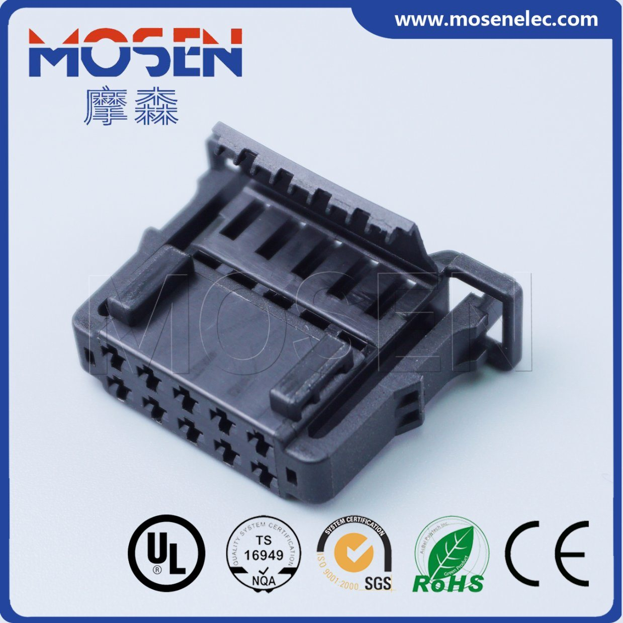 China Vw Audi Wiring Harness Plug 10 Pins Waterproof Connector Connectors 6q0972725