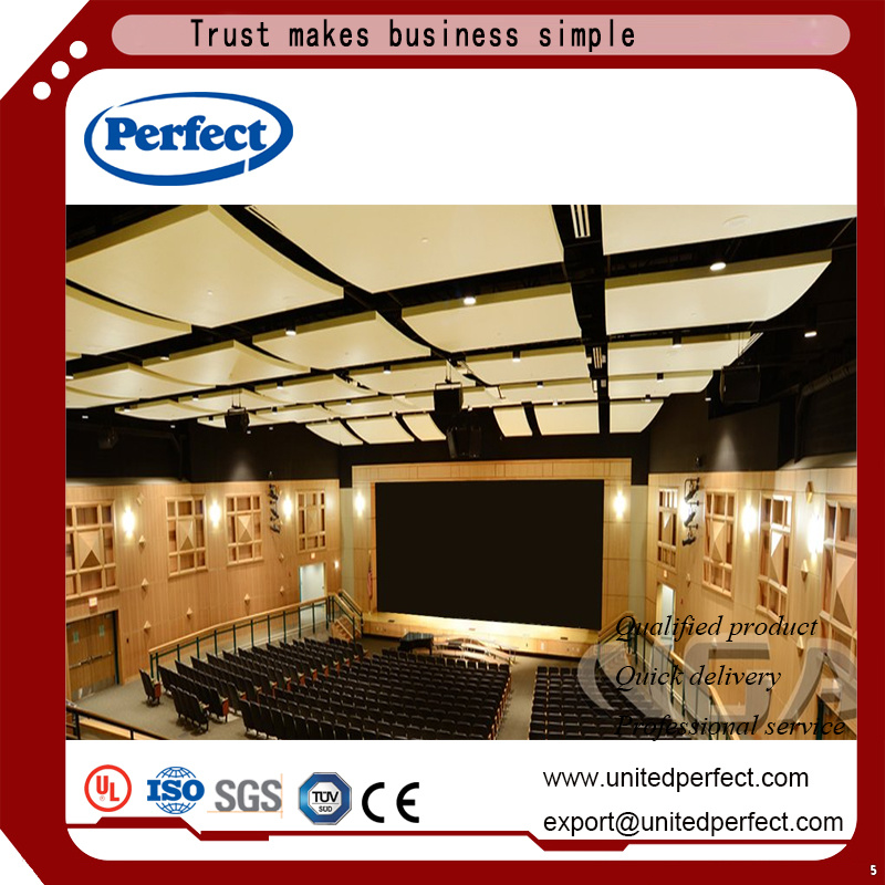 Black Fiberglass Ceiling Tile Suspended Panel With 600 1200