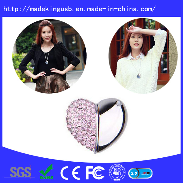 Diamond Heart Shape USB Flash Drive pictures & photos