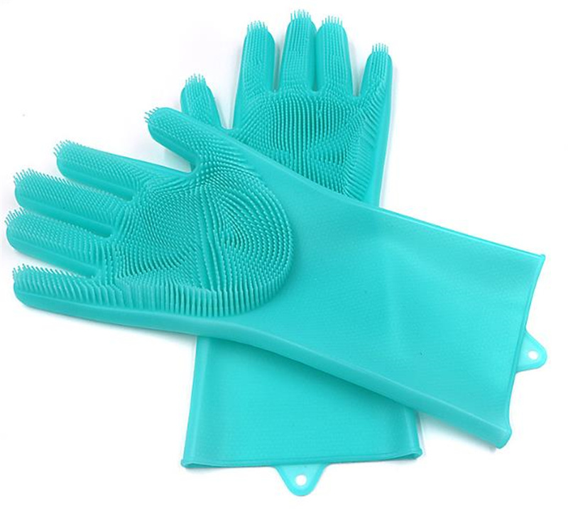 Magic Washing Silicone Cleaning Dish Washing Eco-Friendly Scrubber Gloves pictures & photos