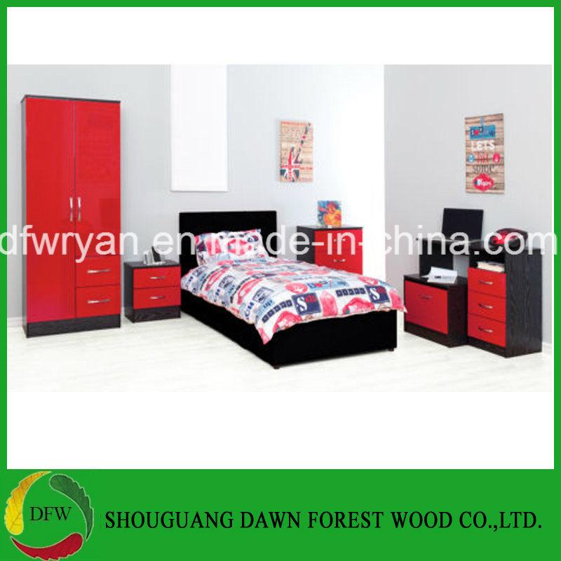 China Red High Gloss Ash Black Modern, Black Modern Bedroom Furniture