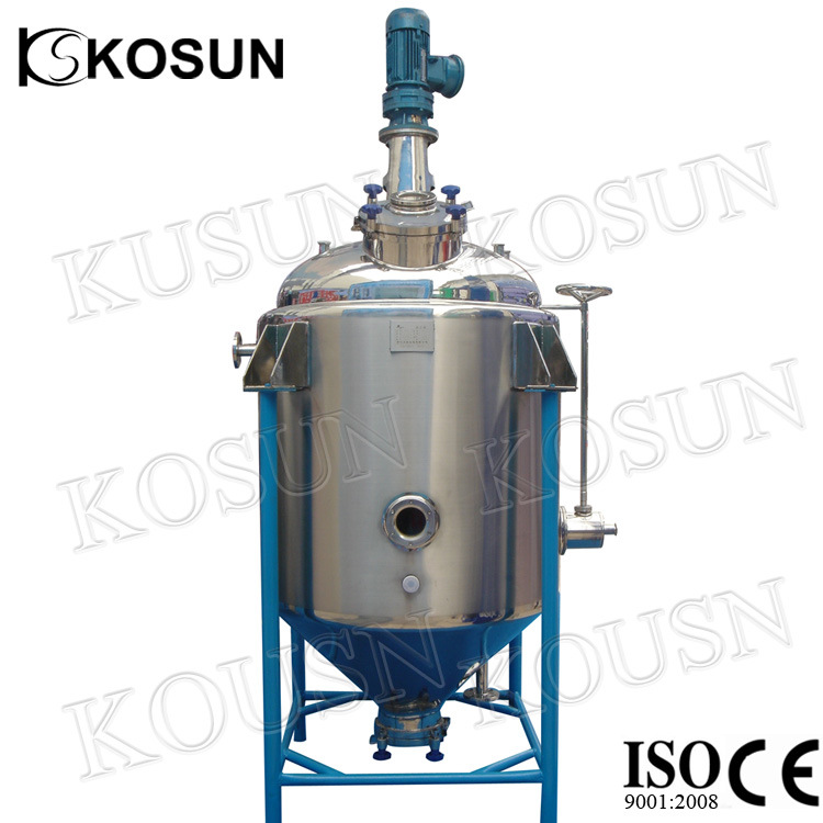 1000L Stainless Steel Cosmetic Milk Chemical Liquid Double Jacketed Mixing Tank pictures & photos