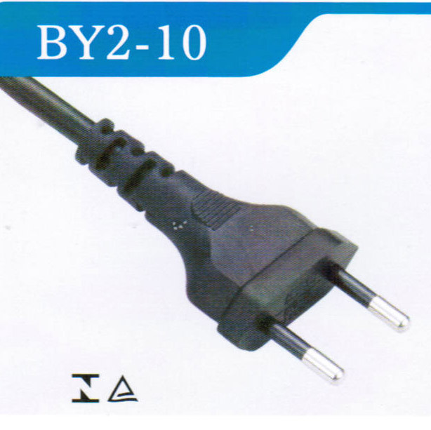 Brazil Power Cord with 2pin Plug with Inmetro/Uc Approved (BY2-10)