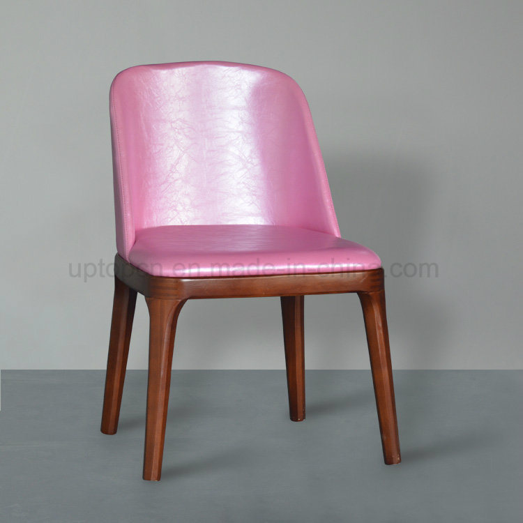 China Pink Leather Upholstered Poliform Grace Dining Chair Sp Ec621
