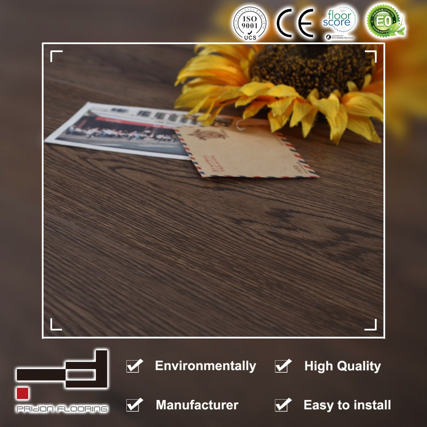 China 12mm Oak Grey Waxed V Bevelled American Style Water Proof Laminate Flooring Floor