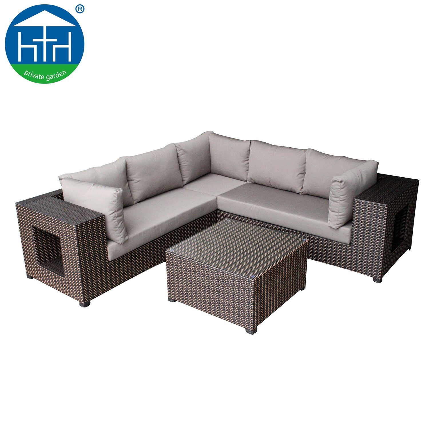 Hot Item Hotel Lobby Sofa Cozy Living Room Sectional Rattan Sofa Set With Storage Space