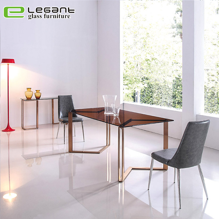 China Modern Popular Classic Square Glass Dining Table Set China Dining Table Glass Dining Table
