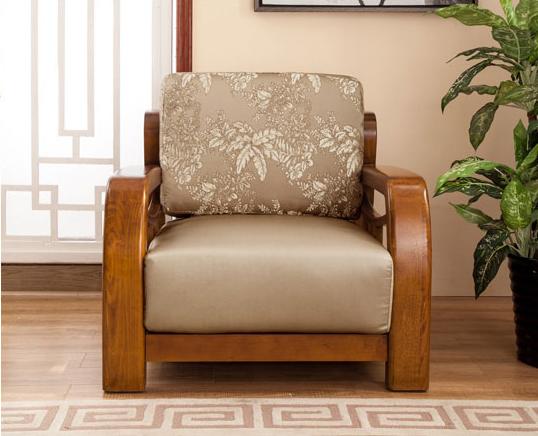 China New Model Fabric Cushion Living Room Wooden Sofa Set Photos