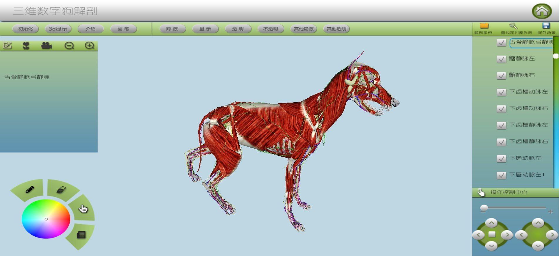China 3d Digit Dog Anatomy Virtual Simulation Training System