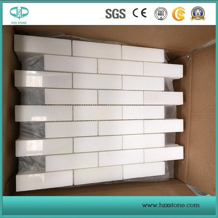 White Bianco Carrara Marble/Mosaic Tiles/Wall Cladding/Floor Mosaic/Polished / Honed / Antique Mosaic pictures & photos