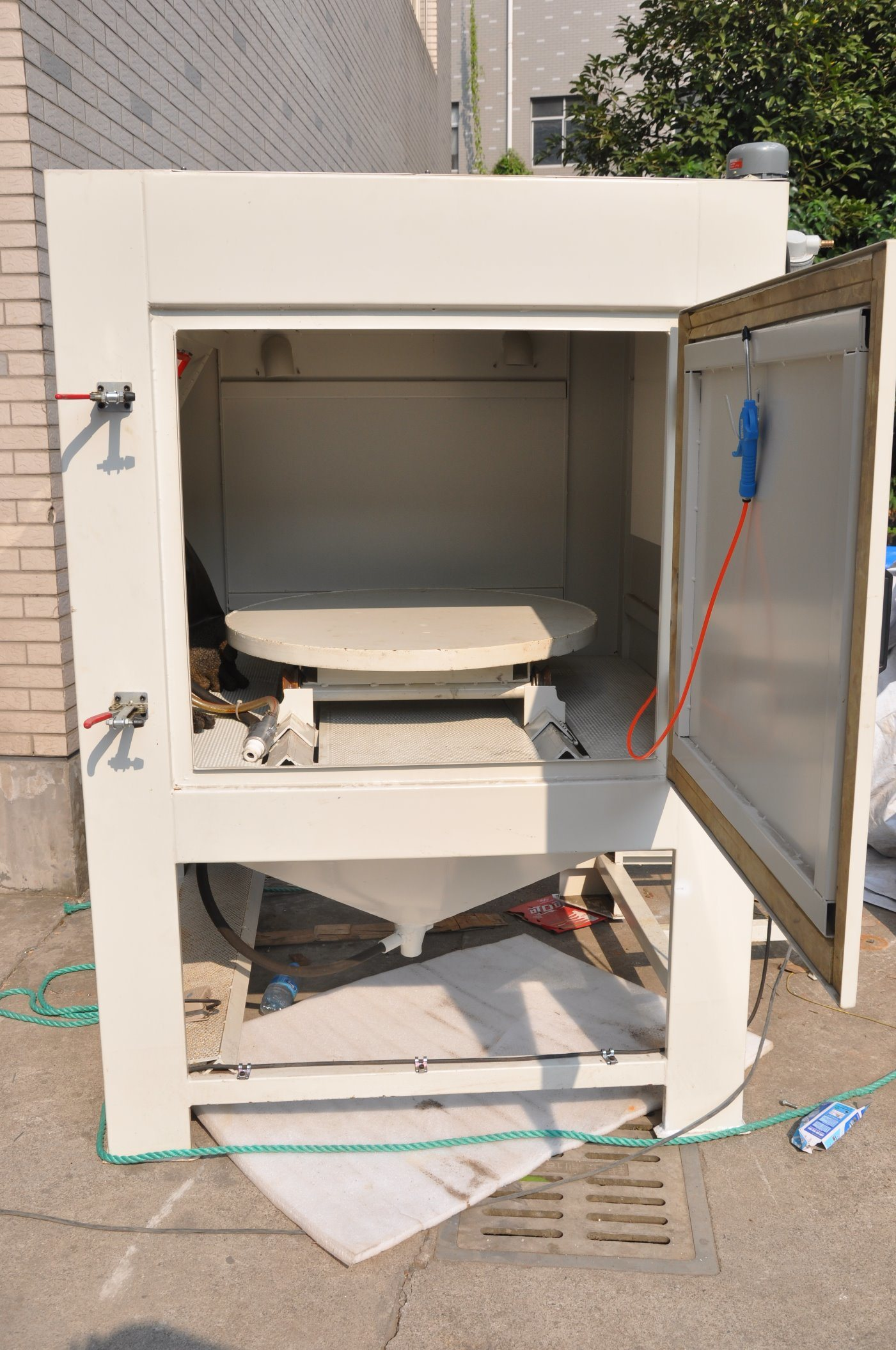 blast com oemtools amazon abrasive dp bench top sand cabinet