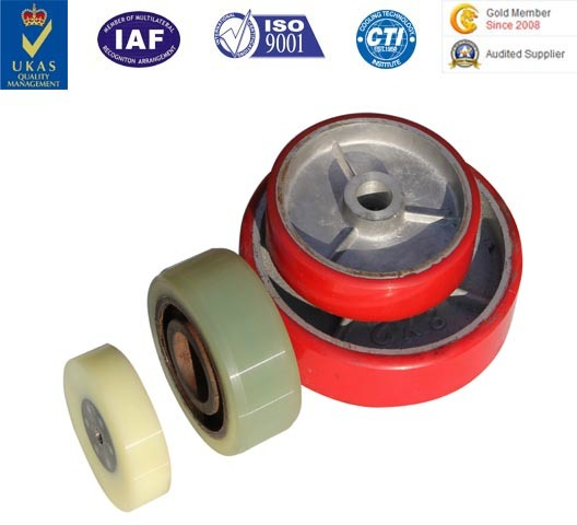 Factory Wholesale PU Rubber Caster Wheels Trolly Wheels