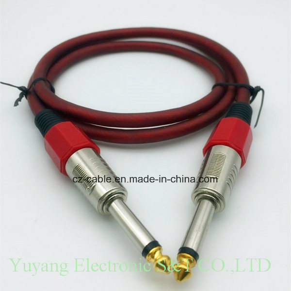 6.35mm/6.35 Mono Plug to 6.5mm/6.5 Mono Plug AV/Speaker/Microphone/Musical Cable pictures & photos