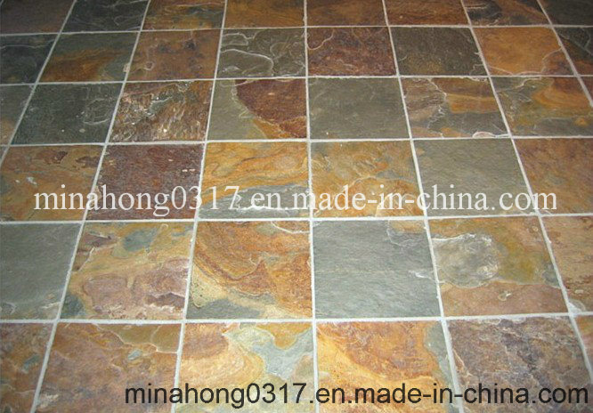 China Green/Yellow/Rust/Black/Grey/Beige Slate Floor/Wall Tile ...