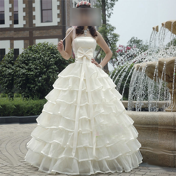 Wedding Gown Preservation Process Machines: China Princess Volume Line Wedding Dress (VL-0018)
