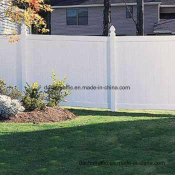 White Vinyl Fence With Aluminum Post Insert