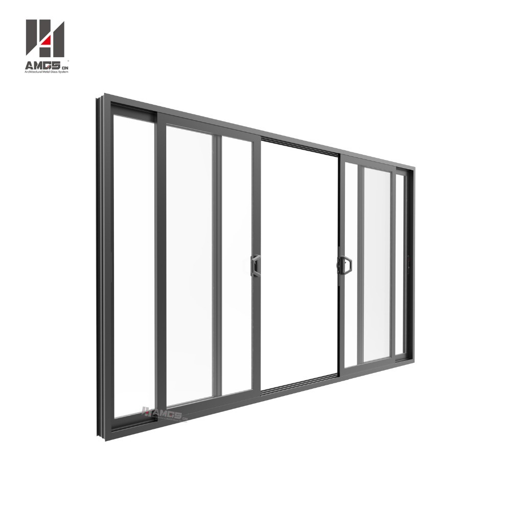 Commercial Double Glass Aluminium Profiles Sliding Door Philippines Price and Design pictures & photos