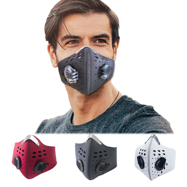 Changeable Purely Anti-Smog Breathing Valve Folded Printing Pollution Face Mask