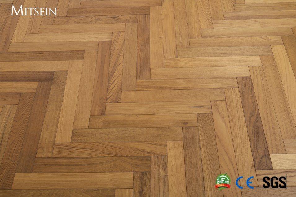 Myanmar Teak Herringbone Wood Flooring