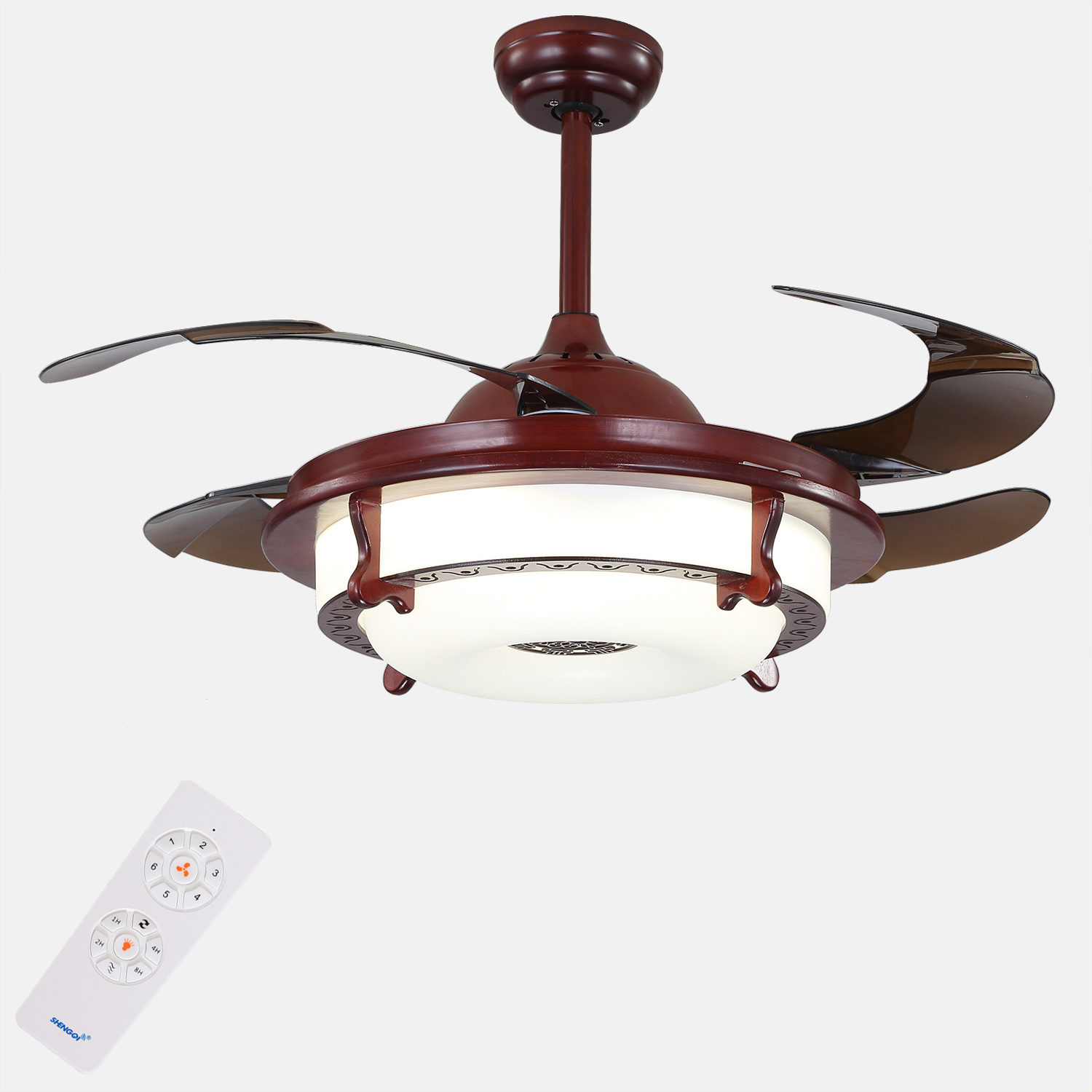 China professional custom factory price high quality ceiling fan with hidden blades china ceiling fan ceiling fan with light
