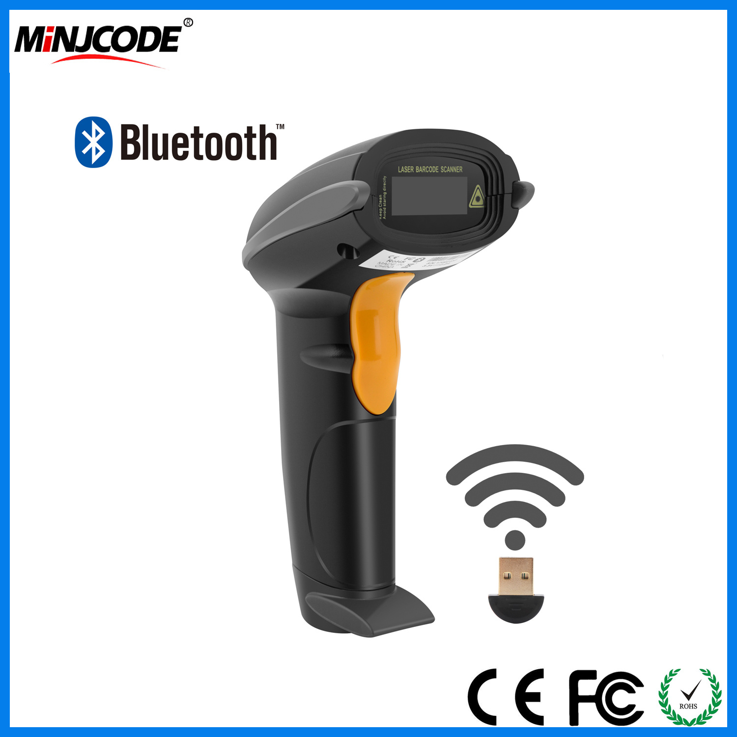 USB Barcode Laser Scanners New Gun Wired Automatic Portable Scanning Tool Reader