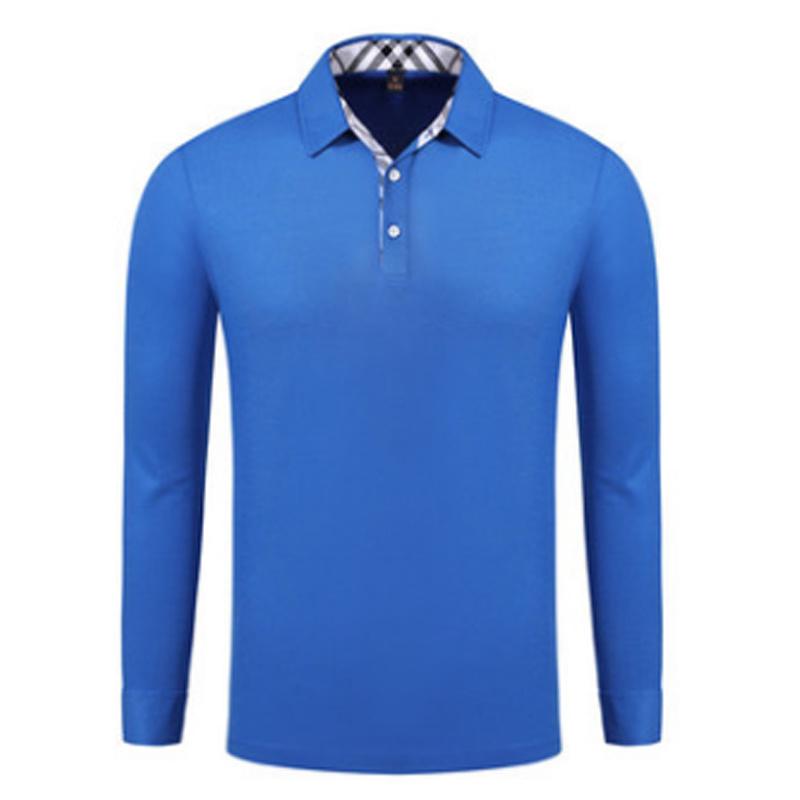 61ed1d4c China Customized Logo Blue Long Sleeve Polo Shirt for Men - China Men T- Shirt, T Shirt