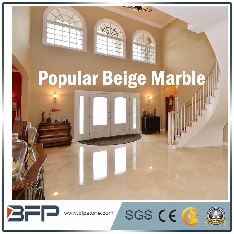 China Beige Marble Floor Tile for Hotel/Shopping Mall/Commercial ...