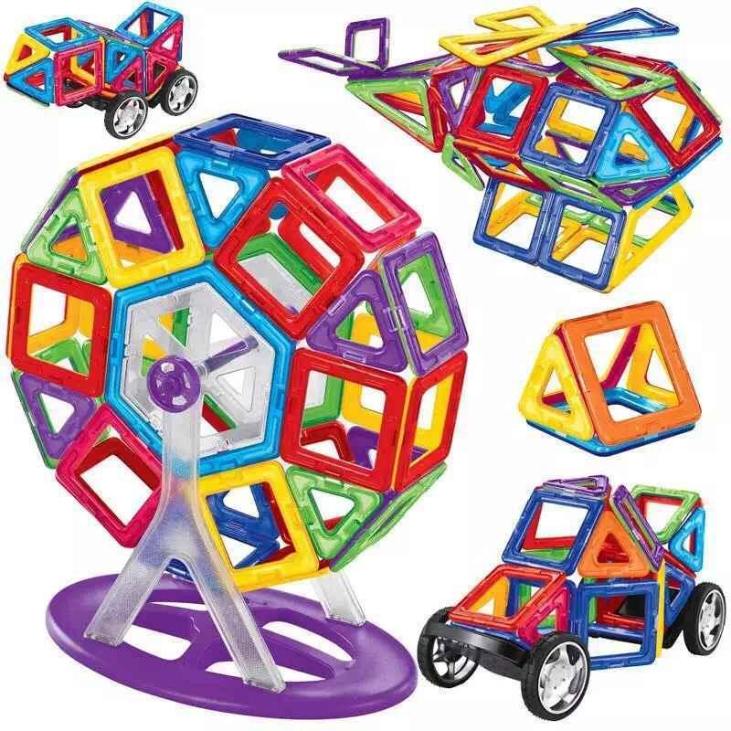 [Hot Item] 238PCS Similar Magformers Magnetic Construction Building Toys  Educational Blocks