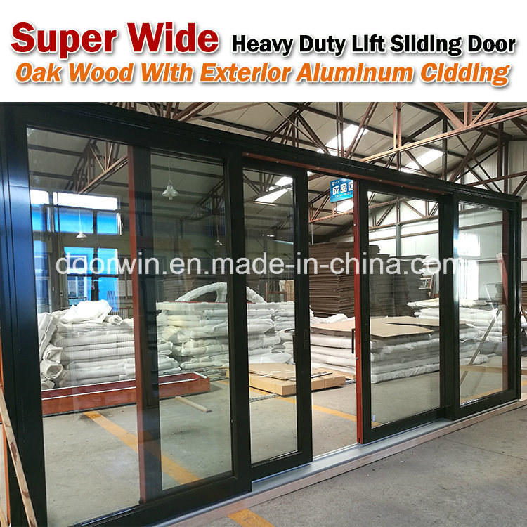 China Grille Glass French Hinged Aluminum Clad Solid Wood Composite