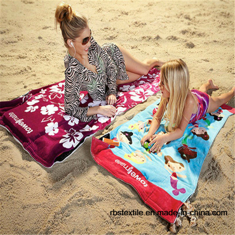 Competitive Printing Velour Bath Towel Beach Towel pictures & photos
