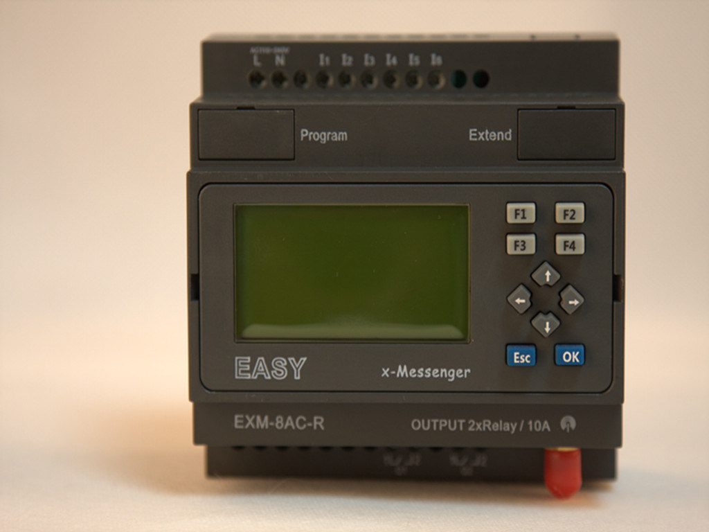 GSM/SMS/GPRS PLC, Ideal Solution for Remote Control& Monitoring &Alarming Applications (EXM-8AC-R-HMI)