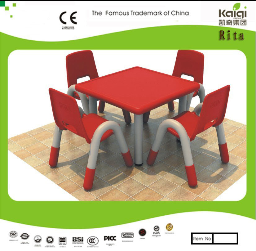 Kaiqi Children′s Table and Chairs- Square Shape - Many Colours Available (KQ10183B)