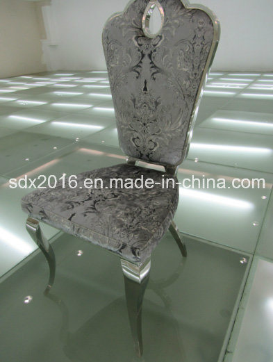 Modern Dining Room Chair with Stainless Steel Leg