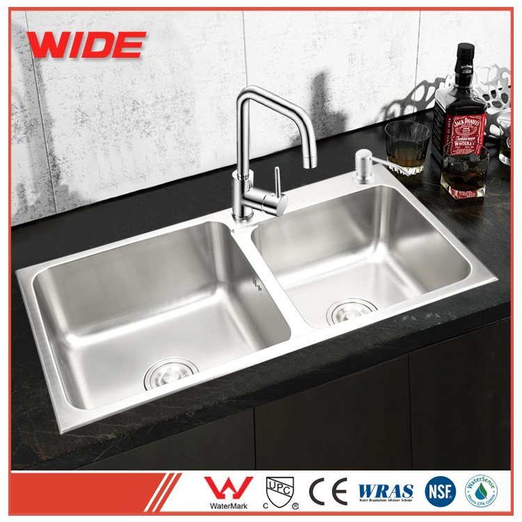 china factory price best quality double bowl hand made 304 stainless rh gdwide en made in china com best quality kitchen sinks australia best quality stainless kitchen sink
