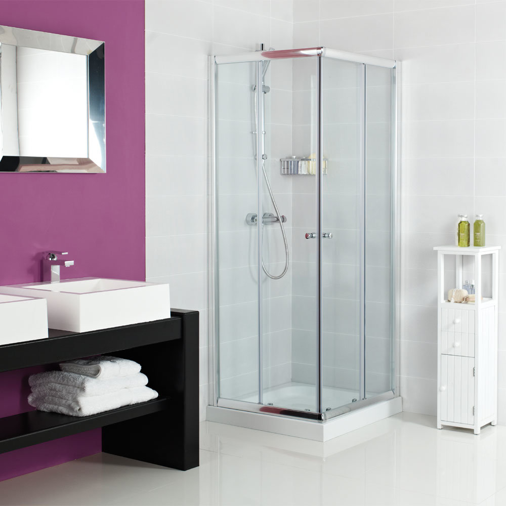 China Anodized Aluminum Offset Corner Entry Shower Enclosure Shower ...
