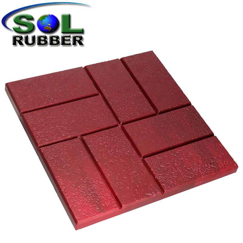 China Comfortable Residential Outdoor Rubber Floor Tile China