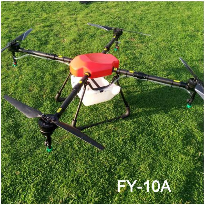 [Hot Item] Fy-10A Latest Battery Powered Remote Control Agriculture Crop  Spray Uav Sprayer Drone