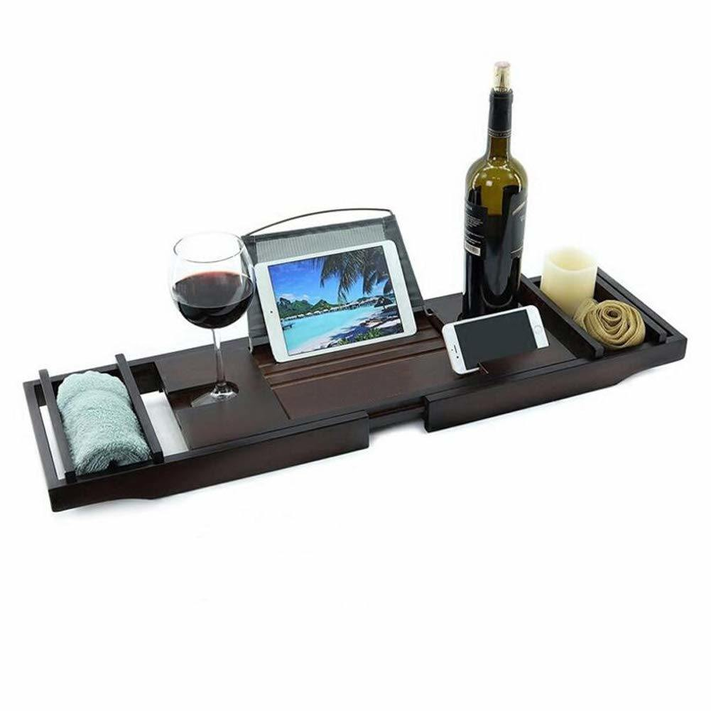 [Hot Item] Bathtub Caddy Tray with Adjustable Rack Book, Phone, iPad,  Kindle, Goblet Holder for Bath/Bed Tray by Didida