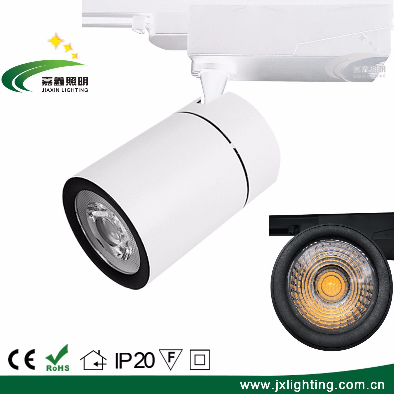 Track Lighting Without Wiring China High Power Cob 35w Dimmable Led Light With 15d 24d Angle Global 4 Wire Adapter Spot