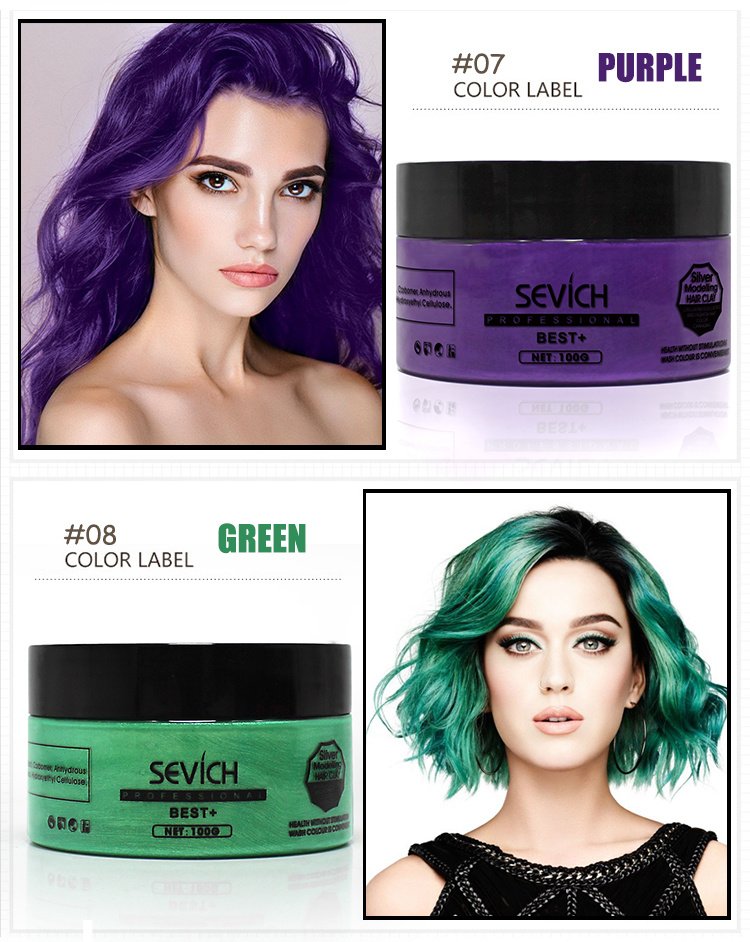 China Gold Supplier Hot Sale Temporary Hair Dye Wax Hair Color Clay