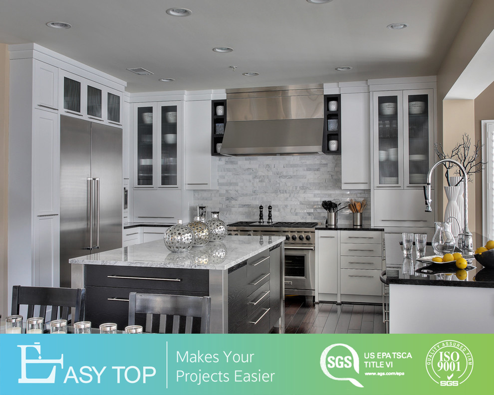 Cabinets Design White Matte Lacquer Modern Kitchen Cabinet With