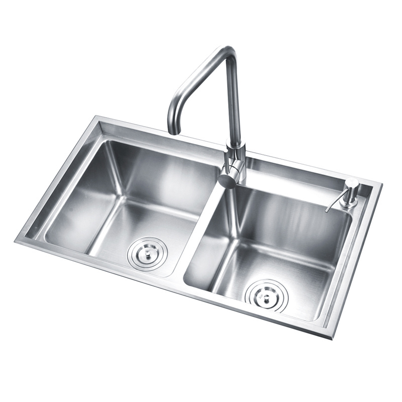 China Luolin Saver In Future Kitchen Sink Bowl Sink Stainless Steel 304 Double Dish Washing Bowls Wash Basin Kitchen Basin Wash Sink Strainer Basket 76 43cm 10 China Sink Sinks
